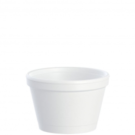 Dart J Cup 3.5 oz Foam Containers - 3.5J6 - 1000/cs