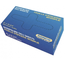 "RONCO Deli Sheets 10"" X 10"" 0.75mil - 30-810 - 1000/bx, 10bx/cs"