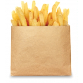 "Eco Craft French Fry Bags 5.5"" x 4.5"" - 300049 - 1000/cs"