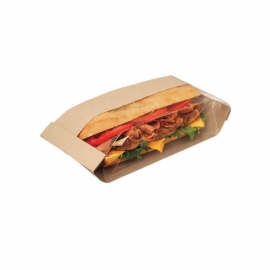 "Dubl View Sandwich Bags 4.25"" x 2.75"" x 11.75"" X-Large, With Window - 300090 - 500/cs"