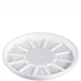 Dart Vented Flat White Foam Containers fits 32TJ32, 16MJ32, 12B32 - 32RL - 500/cs