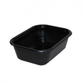 "Sabert 22oz CPET Ovenable Plastic Containers 5"" x 6.6"" x 2.12"" - 33070220D600 - 600/cs"