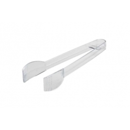 "Fineline Settings Platter Pleaser Clear Plastic Tongs 7"" Party Supplies - 3307CL - 48/cs"