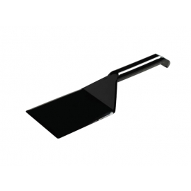 Fineline Settings Disposable Black Plastic Spatula Speciality Food Service Supplies - 3313BK - 48/cs