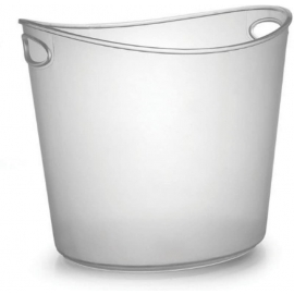 Fineline Settings Clear Plastic Oval Ice Bucket 1Gal Party Supplies - 3404L - 6/cs