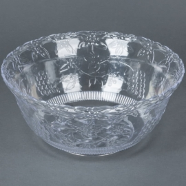 Fineline Settings Clear Plastic Punch Bowl 8 Quart Speciality Food Service Supplies - 3508L - 6/cs