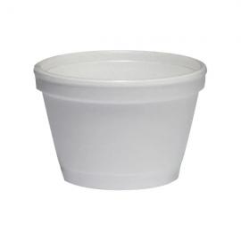 Genpak Plain 3.5 oz Foam Cups - 350K - 1000/cs