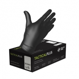 Forcefield Tactical Plus Disposable Nitrile Glove L Black, Powder Free - 352777BL - 100/bx, 10bx/cs
