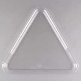 """Fineline Settings Clear Plastic Triangle Tray 16""""x16""""x16"""" Party Supplies - 3561L - 20/cs"""