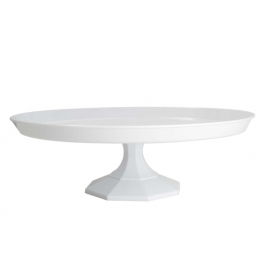 "Fineline Settings White Cake Stand 9.75"" Speciality Food Service Supplies Plastic 2 Piece - 3600WH - 12/cs"