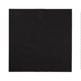 "Hoffmaster Black Linen Like Napkins 16"" X 16"" - 395005 - 5 X 125/cs"