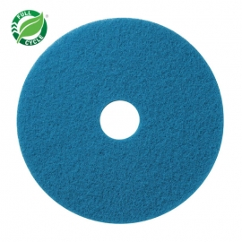 "Blue Cleaning Floor Pads 14"" x 32"" Full Cycle - 40041432 - 5/cs"