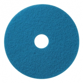 "Blue Cleaning Floor Pads 16"" Full Cycle - 400416 - 5/cs"