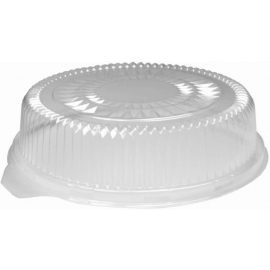 HFA Plastic Dome Lid fits 12in Round Serving Tray - 4012DL - 25/cs