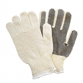 String Knit Cotton Gloves with Dots Small - 40187607 - Pair