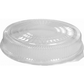 HFA Plastic Dome Lid fits 18in Round Serving Tray - 4018DL - 25/cs