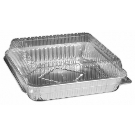 HFA 8in Square Cake Pan with Lid Combo - 4048-35-100WDL - 100/cs