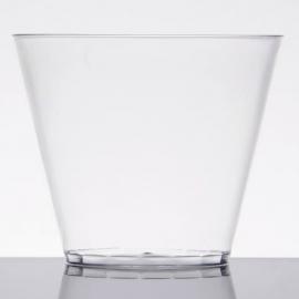 Fineline Settings Rigid Plastic Clear Tumbler 9oz Plastic Cups - 409CL - 20 x 25/cs