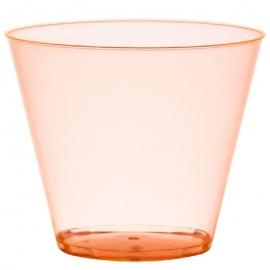 Fineline Settings Rigid Plastic Neon Orange Tumbler 9oz Plastic Cups - 409ORG - 20 x 25/cs