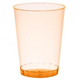 Fineline Settings Rigid Plastic Neon Orange Tumbler 10oz Plastic Cups - 410ORG - 20 x 25/cs