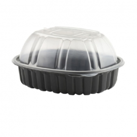 "Anchor Packaging Nature's Best Chicken Roaster 9.44"" x 7.51"" x 4.5"" Plastic Containers Combo - 4110600 - 170/cs"