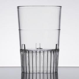 Fineline Settings Hard Plastic Clear Shot Glass 1oz Plastic Cups - 4110L - 10 x 50/cs