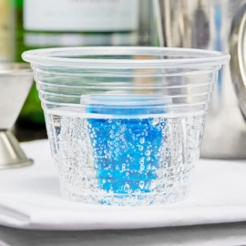 Fineline Settings Blaster Bomb Clear Shot Glass Plastic Cups 1oz Inner, 2.75oz Outer 2 Part - 4112L - 25 x 20/cs
