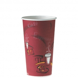 Dart Solo Bistro 20 oz Paper Hot Cups - 420SI-0041 - 600/cs