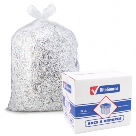 "RiteSource 42"" x 48"" Strong Clear Garbage Bags- 4248SC - 125/cs"
