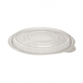 "Anchor Packaging Incredi-Bowls 8.5"" Round Clear Lid fits 18, 24, 32 and 48oz Incredi-Bowls containers Plastic Bowls MW Lid - Minimized Vent - 4338505 - 150/cs"