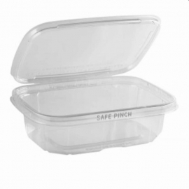 "Anchor Packaging Safe Pinch Tamper Clear Hinged Container 20oz Plastic Hinged Container 6"" x 7"" - 4512010 - 200/cs"