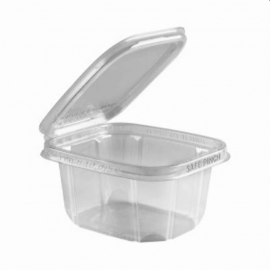 "Anchor Packaging Safe Pinch Tamper Clear Hinged Container 16oz Plastic Hinged Container 6"" x 5"" - 4512030 - 200/cs"