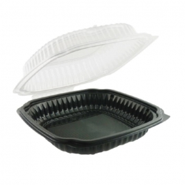 Anchor Packaging Culinary Classics Perforated Hinged Clamshell 47.5oz Plastic Hinged Container Microwavable - 4659611 - 100/cs