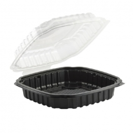 Anchor Packaging Culinary Classics Hinged Clamshell 46.5 oz Plastic Hinged Container Microwavable - 4669111 - 100/cs