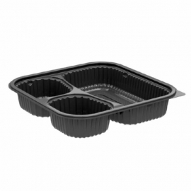 Anchor Packaging Culinary Squares 3 Compartment Base 21oz/6oz/6oz Plastic Containers Microwavable - 4688523 - 300/cs