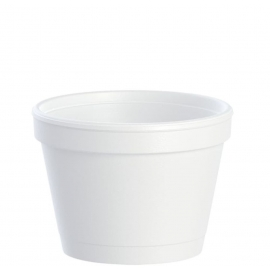 Dart White 4 oz Foam Containers - 4J6 - 100/cs