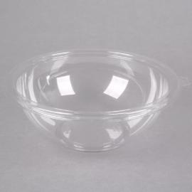 Fineline Settings Clear PET Plastic Salad Bowl 80oz Party Supplies - 5080CL - 25/cs