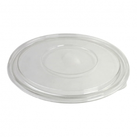 Sabert Clear Round Flat Lid fits 92160A50 Catering Bowls - 51160A50 - 50/cs