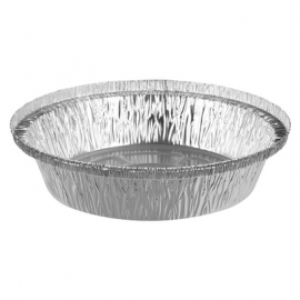 Pactiv 7in Round Foil Takeout Container - 512425D - 500/cs