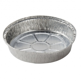 Pactiv 7in Round Novelis Foil Takeout Container - 512430D - 4bg/cs