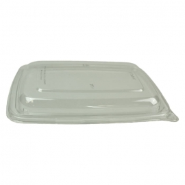 "Sabert Clear Lid fits 6"" x 9"" Rectangle Pulp Containers - 51601F300PCR - 300/cs"