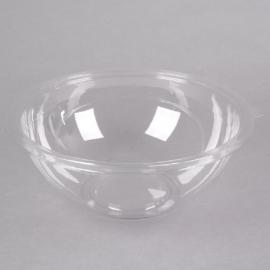 Fineline Settings Clear PET Plastic Salad Bowl 160oz Party Supplies - 5160CL - 25/cs