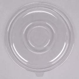 Fineline Settings Clear Plastic Flat Lid 160oz Party Supplies - 5160FL - 25/cs