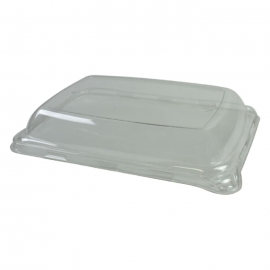 Sabert Clear Dome Lid fits Pulp and Black Snack Trays - 520608D300 - 300/cs
