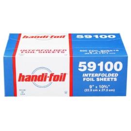 Handi-Foil 9in X 10.75in Sliver 500 Sheets - 59100 - 6bx/cs