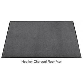 Olefin Charcoal Gray Floor Mat 3ft x 8ft - 6106 -