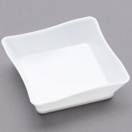 """Fineline Settings Tiny Temptations White Plastic Tray 2.25""""x2.25"""" Party Supplies - 6201WH - 200/cs"""