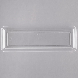 """Fineline Settings Plastic Long Rectangular Tray 7.5"""" Catering Supplies Clear - 6211L - 200/cs"""