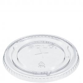 Dart Clear Flat Lid Straw Slot fits 16 oz - 24 oz Plastic Cups - 626TS - 1000/cs