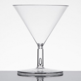 Fineline Settings Tiny Toasts Clear Plastic Glass 2oz Party Supplies 2 Piece, Martini Glass - 6401L - 120/cs